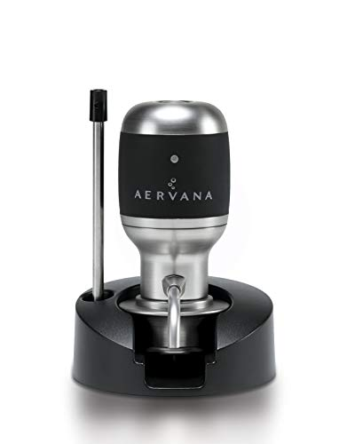 Aervana Original: Electric Wine Aerator and Pourer / Dispenser - Air Decanter - Personal Wine Tap for Red and White Wine 750 ml and 1.5 l (With Stand)