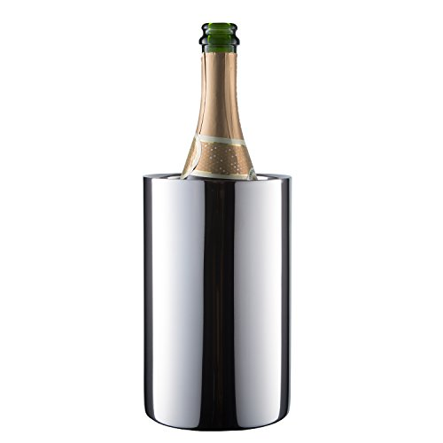 Enoluxe Wine Chiller Bucket - Champagne Bucket - Elegant White Wine Bucket or Champagne Chiller for All 750 ml Bottles - Insulated Wine Cooler Bucket to Keep Wine Cold (Stainless Steel)