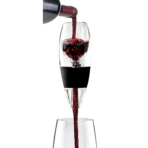 Vinturi Red Wine Aerator Includes Base Enhanced Flavors with Smoother Finish, Black